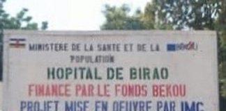 Pancarte de l'hôpitalde Birao le 17 septembre 2019