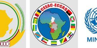 Les logos de la Minusca, de l'Union africaine et de la CEEAC qui condamnent la reprise des hostilités dans la ville de Birao, dans la préfecture de la Vakaga, au nord-est de la République centrafricaine.