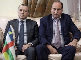 Ambassadeur russe en Centrafrique avec le conseiller russse du Président Touadera.