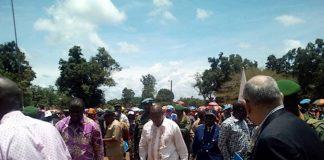 Image d'illustration du Président Touadera à Bangassou au sud-Est de la Centrafrique.