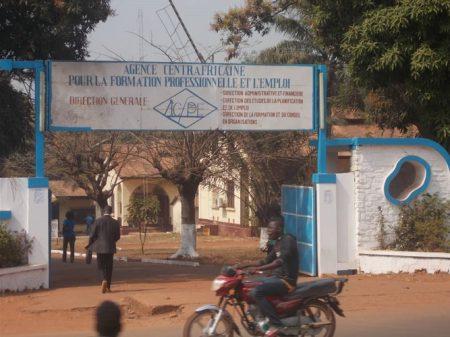 Agence centrafricaine pour la formation professionnelle et l'emploi, Bangui, République centrafricaine. Image : Mickael Kossi / CNC
