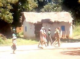 Des mercenaires russes à Sibut, dans la préfecture de Kémo, en République centrafricaine. CopyrightCNC.