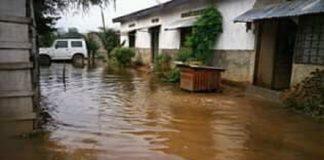 inondation quartier de Bangui en Centrafrique