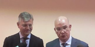Les Diplomates Ismail Chergui et Jean-Pierre Lacroix à Bangui. CNC