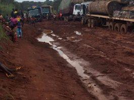 route baoro bouar le 15 octobre 2019