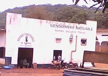 Brigade territoriale de la gendarmerie de Bangui le 6 août 2019. CopyrightCNC.