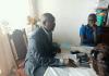 Député Abdoul Karim Meckassoua devant les journalistes au sein de l'assemblée nationale le 13 novembre 2019. Copyright2019CNC.