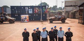 La cellule interopérabilité de l'EUTM-RCA rassemblée au camp Ucatex - Moana, à Bangui