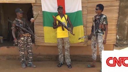 Des miliciens d'autodéfense du quartier PK5 dans le troisième arrondissement de Bangui. CopyrightCNC.