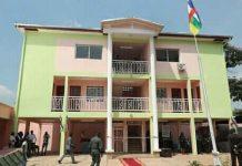 Nouveau bâtiment de l'autorité nationale des élections à bangui