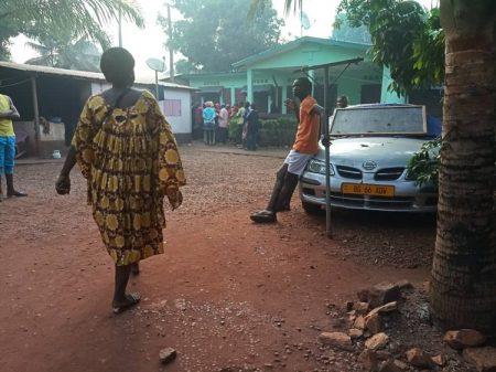 Image de l'environnement du crime, ce lundi 16 décembre 2019 au quartier Nzangoya, à Bangui.