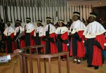 Les juges de la Cour constitutionnelle (RCA).
