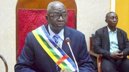 Le Président de l'assemblée nationale centrafricaine Moussa Laurent Gon-Baba. CopyrightDR