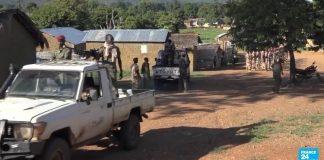 Des combattants du FPRC à Ndélé, dans la préfecture de Bamingui-Bangoran. Crédit photo : CNC.