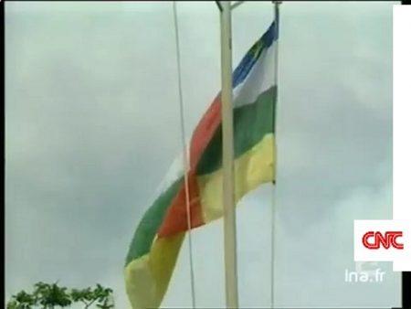 Drapeau de la République centrafricaine par corbeaunews