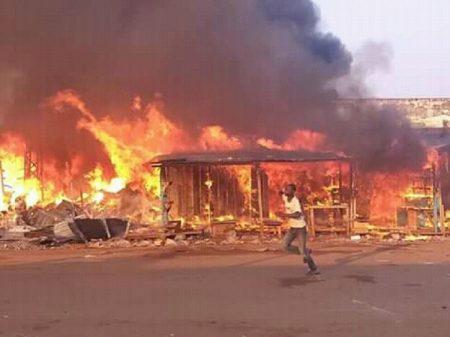 Incendie au KM5 le 26 décembre 2019 par cnc