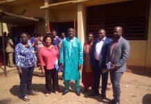 Le ministre de l'éducation, Moukadas Noure avec les partenaires de ce projet dont la madame Bikha Patricia de l'Unicef @photo Jefferson Cyrille Yapende