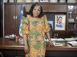 l'ancienne Présidente catherine samba-panza pour ses voeux de 2020