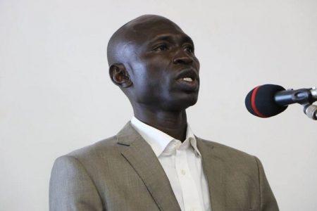 le ministre du désarmement, démobilisation, rapatriement et réinseertion Maxime Geoffroy Elie Mokom Gawaka