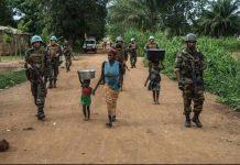 Image d'illustration d'une patrouille des soldats de la Minusca et FACA à Bambari. Copyright