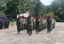 parade militaire à Berengo lors de la sortie officielle@Erick Ngaba