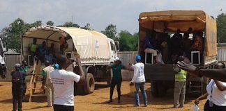 retour des réfugiés centrafricains du congo brazzaville à Moungoumba en centrafrique le 1 avril 2019 par CNC