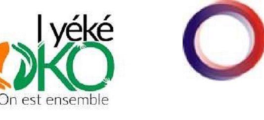 1000x200 logo combinés trois avec emblème rca - logo i yé ko oko et logo de agence francçaise de développement afd