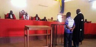 Caporal-Chef Achille Désiré Legrand Yamanz - , devant la Cour Criminelle ce mardi 07 janvier 2020 à la Cour d'Appel de Bangui