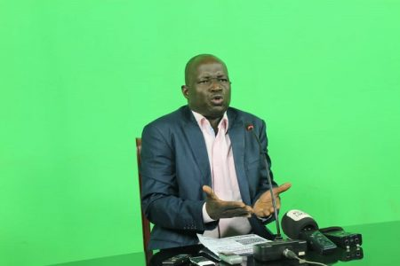 Le Coordonateur général du MCD, Javon Zama Papa. Crédit photo cyrille Jefferson Yapendé / CNC.