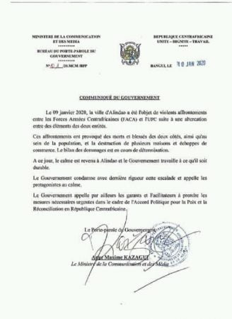 Le gouvernement communique sur Alindao et ne promet rien fetch%