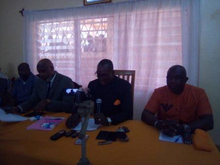Les 4 cadres du parti Kwa Na Kwa lors de la conférence de presse tenue le 14 janvier 2020 par cyrille