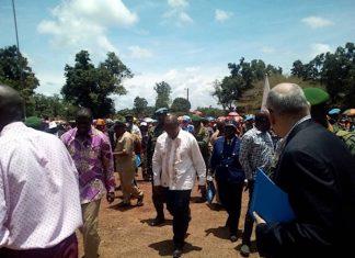 Le Président Touadera en visite à Bangassou en septembre 2018. CopyrightDR.