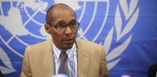 Vladimir Monteiro, porte-parole de la MINUSCA. Crédit photo : CNC.