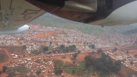 Image d'illustration du camp des déplacés du PK3 de Bria. Crédit photo : Moïse Banafio / CNC.