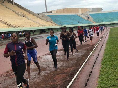 candidat au concours du recrutement des policiers et gendarmes lors des épreuves sportives à Bangui le 16 septembre 2019. Crédit photo : Minusca.