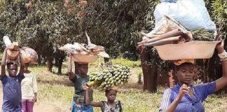 Les habitants de Bria. Crédit photo : Moïse Banafio / Corbeaunews-Centrafrique.