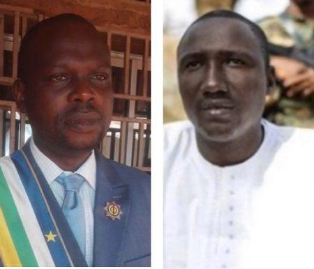 De gauche à droite, le député de Bambari 1 HAMADOU Aboubakar Kabirou, et le chef rebelle Ali Darassa. Image combinée par CNC le 31 janvier 2020.