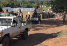 Les combattants rebelles du FPRC en patrouille à Ndélé. CopyrightDR.