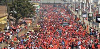 des manifestants à Conakri en guinée janvier 2020