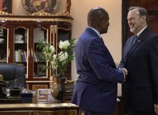 Le diplomate américain Tibor Peter Nagy Junior à Bangui le 20 janvier 2020. CopyrightDR
