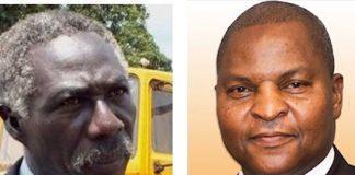 De gauche à droite, le Président du parti MDREC Joseph Bendounga, et le Chef de l'État Faustin Archange Touadera. Photo montage du CNC le 30 janvier 2020.