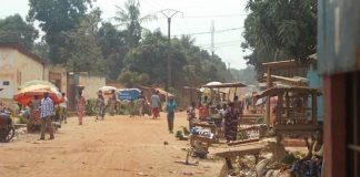 Illustration du marché Tékpa à la cité Jean-23, dans le quatrième arrondissement de Bangui. Crédit photo : Mickael Kossi / CNC.