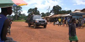 Une patrouille des soldats FACA à Bangassou pour illustration. Crédit photo : Corbeaunews-Centrafrique.