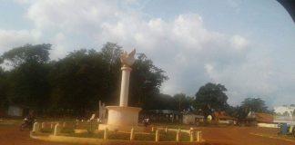 rond point centre-ville de Bambari dans la préfecture de la Ouaka. Crédit photo : Bertrand Yekoua / CNC.