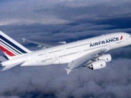 un avion airbus de la compagnie air france