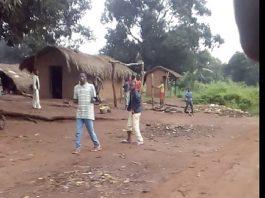 Illustration du village Kiné, situé à 18 kilomètres de Sibut sur l'axe Dékoua le 22 juillet 2018. Crédit photo : Corbeaunews-Centrafrique.