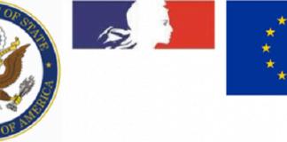 logo département americain et france et union européenne