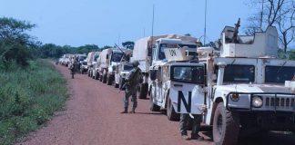 opération du démantèlement des barrières de l'UPC sur l'axe Bambari-Alindao le 1 février 2020 par cnc