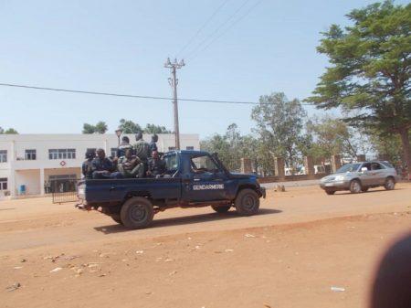Une patrouille de la gendarmerie centrafricaine le 6 août 2019 à Bangui. Photo CNC / Mickael Kossi