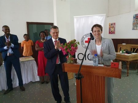 De gauche à droite, Bruce Lorenz Biber, le nouveau Chef de la délégation du CICR